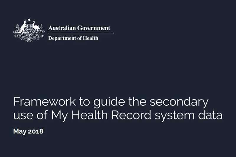 Australia releases framework for My Health Record to deliver better outcomes for patients