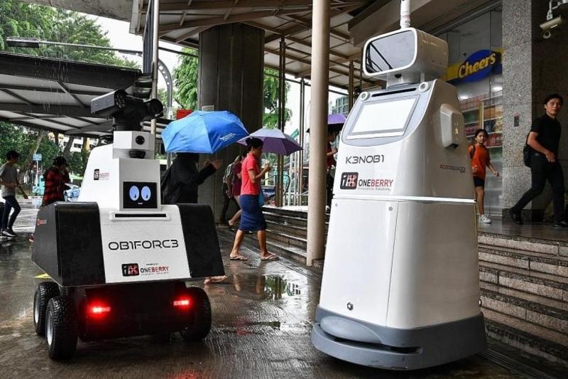 Singapore MRT Stations Robot Guards